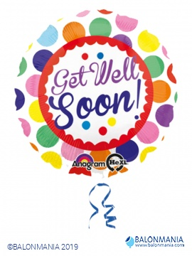 Get Well soon Dots balon